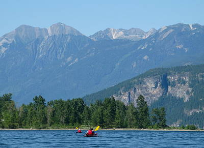 Photograph - Paddling In The Kootenays by Cathie Douglas