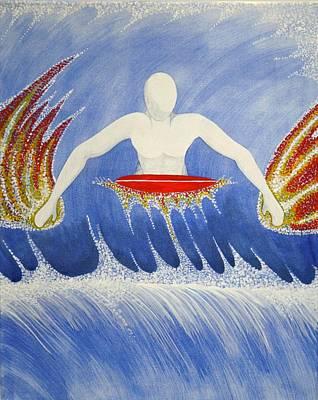 Painting - Paddling by Paul Amaranto