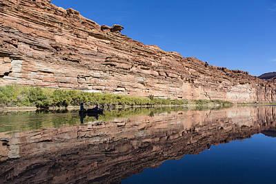 Paddling The Green River Art Print by Tim Grams