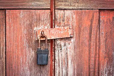 Safeguard Photograph - Padlock by Tom Gowanlock