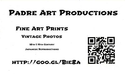 Business Card Photograph - Padre Art Productions Qr Card by Padre Art