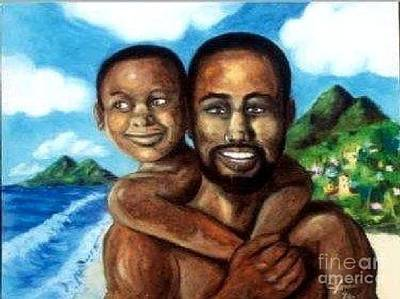 Painting - Padre Y Nino by Jose Breaux