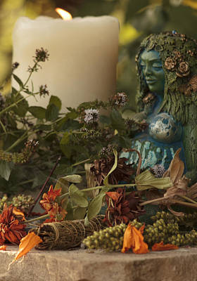 Photograph - Pagan Altar by Shelley Bain