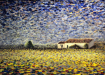 Painting - Painland #4. Yellow Field by Alfredo Gonzalez