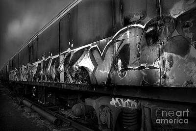 Photograph - Paint Job Bw by Yhun Suarez