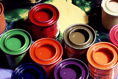 Common Item Photograph - Paint Pots by Victor De Schwanberg
