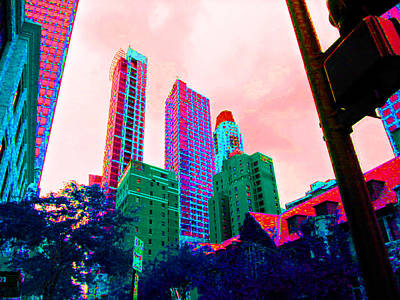 Paint The Town Red Art Print by Val Oconnor