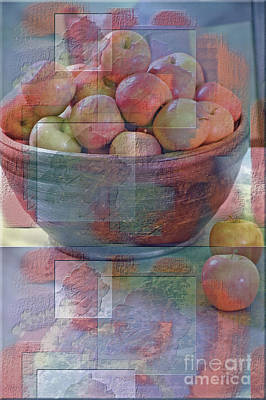 Photograph - Painted Apples by Robert Meanor