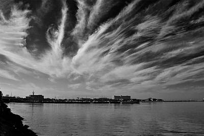 Building Photograph - Painted Clouds by Arj Munoz