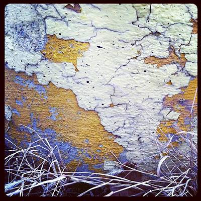 Painted Concrete Map Art Print