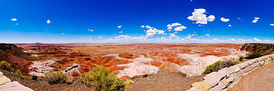 Painted Desert Panorama Art Print by David Waldo