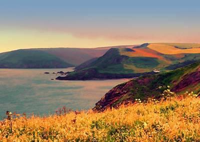 Coastline Digital Art - Painted Devon by Sharon Lisa Clarke