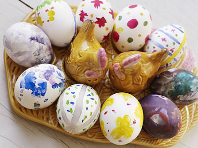 Banquet Photograph - Painted Eggs, Sweden by Johner Images