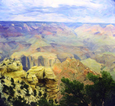 Photograph - Painted Grand Canyon by M K Miller