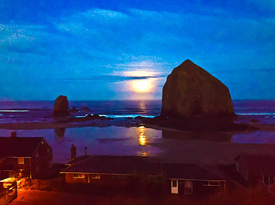 Photograph - Painted Haystack Rock by Joseph Bowman