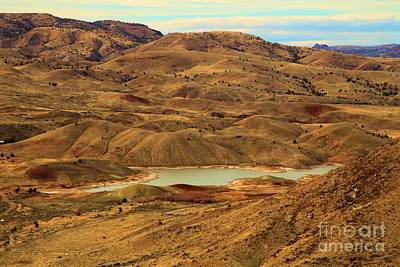 Photograph - Painted Hills Lake by Adam Jewell