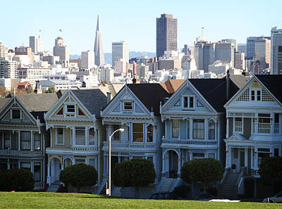 Bay Area Photograph - Painted Ladies by Linda Woods