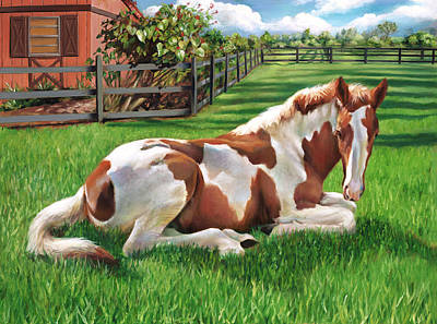 Painting - Painted Pony - Splender In The Grass by Nancy Tilles