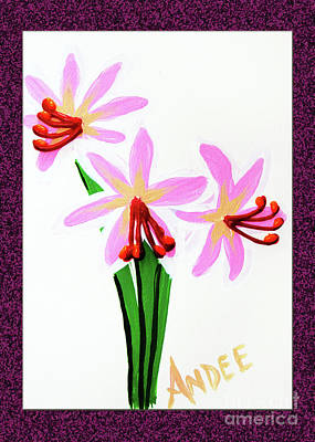 Painting - Painted Surprise Lilies by Andee Design