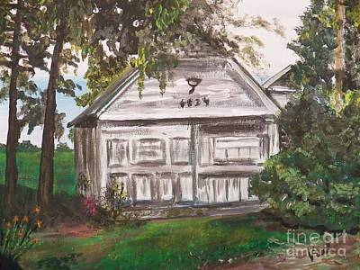Painting   Old Boathouse Original by Judy Via-Wolff