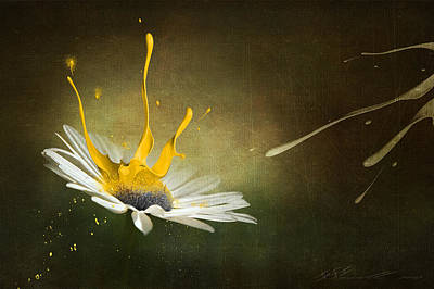 Brown Tones Digital Art - Painting Daisy by Svetlana Sewell
