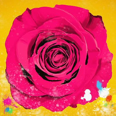 Nature Center Digital Art - Painting Of Single Rose by Setsiri Silapasuwanchai