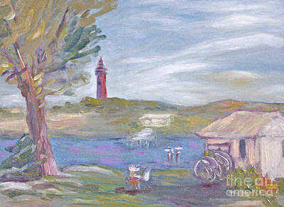 Painting Plein Air By The River Art Print
