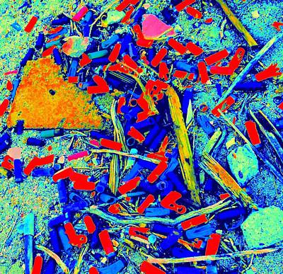 Painting With Debris Art Print by Randall Weidner