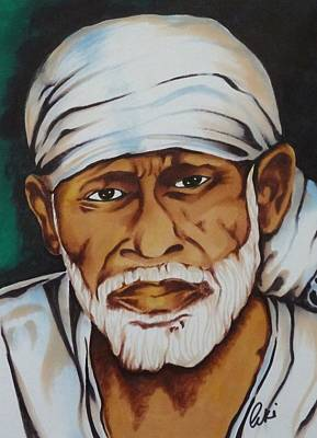 Baba Painting - Painting With Markers by Armin Irani