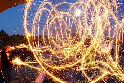 Photograph - Painting With Sparklers by Gordon Dean II