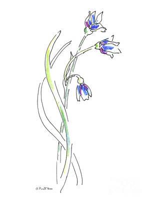 Paintings Of Flowers 3 Art Print