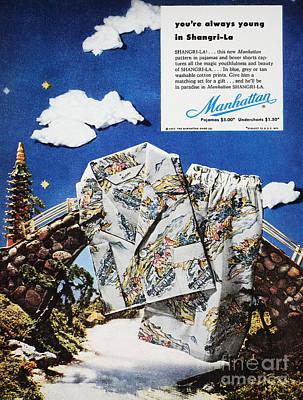 Pajamas Ad, 1952 Art Print by Granger