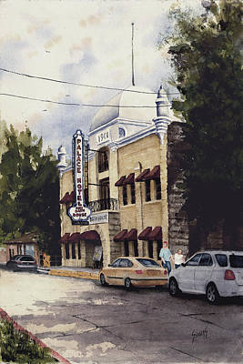 Arkansas Painting - Palace Hotel by Sam Sidders