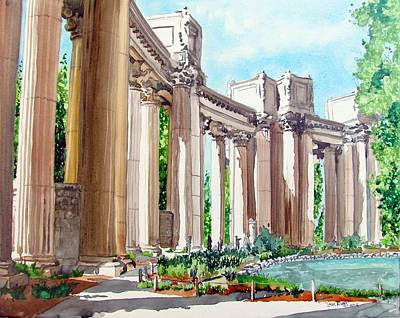 Art Print featuring the painting Palace Of Fine Arts by Tom Riggs