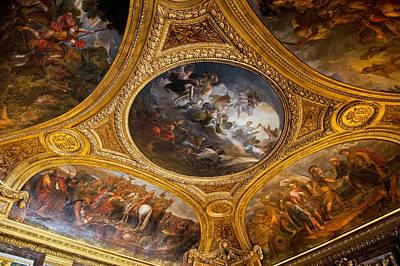 Palace Of Versailles Ceiling Art Print by Jon Berghoff