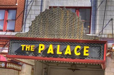 Photograph - Palace Sign by Coby Cooper