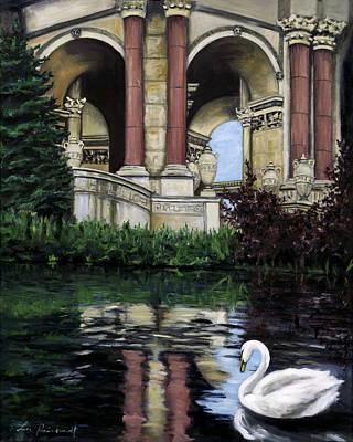 Palace Swan Art Print by Lisa Reinhardt
