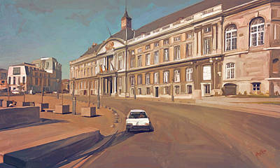 Painting - Palais Des Princes-eveques De Liege Palais De Justice Liege by Nop Briex