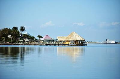 Art Print featuring the photograph Palapa Over The Bayou by John Collins