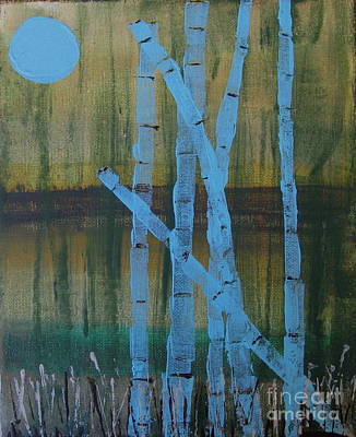 Pale Blue Moon Art Print