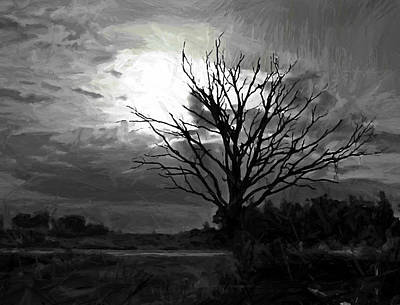Fright Painting - Pale Moon Rising by Steve K
