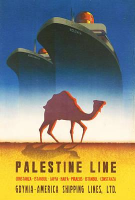 Islam Digital Art - Palestine Line by Georgia Fowler