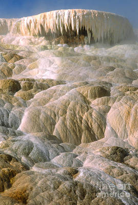 Photograph - Palette Spring In Mammoth Hot Springs by Sandra Bronstein