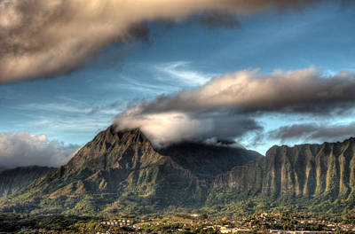 Photograph - Pali Viewpoint From Kaneohe by Dan McManus
