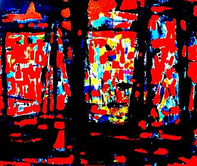 Abstract Expressionism Painting - Palimpsest  by John  Nolan