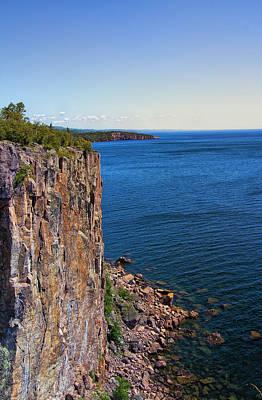Palisade Head Cliffs Art Print by Bill Tiepelman