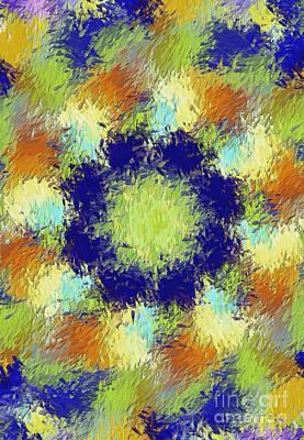 Pallet Of Colors Art Print by Deborah Benoit