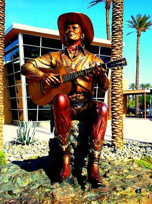 Photograph - Palm Springs Gene Autry Statue by Randall Weidner