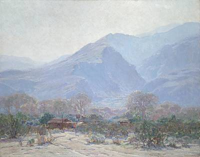 Palm Springs Landscape With Shack Art Print by John Frost