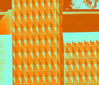 Palm Springs Photograph - Palm Springs Orange Turquoise by Randall Weidner